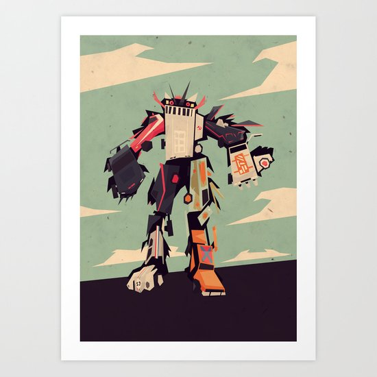 famous car monster Art Print