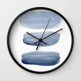 Watercolor blue 1 Wall Clock