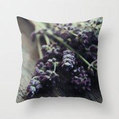 Lavender Harvest Throw Pillow