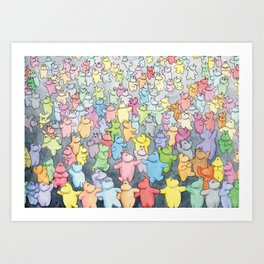 Time to dance! Hippo party illustration Art Print