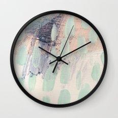 blue palette Wall Clock