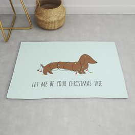 SAUSAGE DOG CHRISTMAS TREE Rug