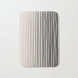 Black Vertical Lines Bath Mat