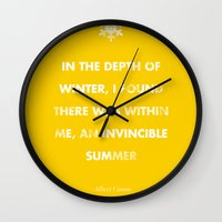 camus Wall Clocks featuring Camus' Invincible Summer  by 5203