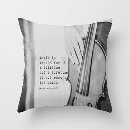 Music Quote Rachmaninov Throw Pillow