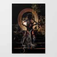 naked Canvas Prints featuring Naked by Rewolf