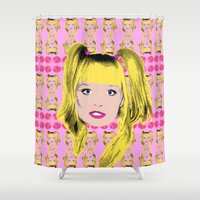 spice Shower Curtains featuring Spice World - Emma Baby Spice by Binge Designs Homeware