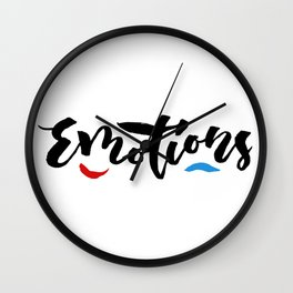 Emotions - Hand Lettering Design Wall Clock