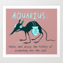 Horrorscopes- Aquarius Art Print