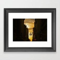 Sundown on Manhattan Framed Art Print