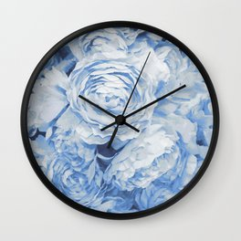 Roses in  blue Wall Clock