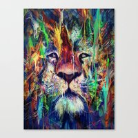 lion Canvas Prints featuring Lion by nicebleed