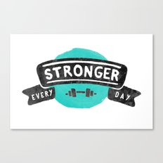 Stronger Every Day (dumbbell) Canvas Print