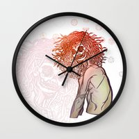 medusa Wall Clocks featuring MEDUSA by BABA-G | arts and crafts
