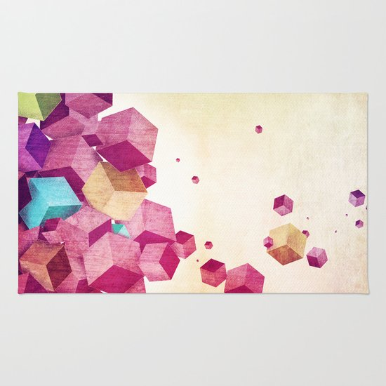color cubes Rug