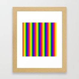 Rainbow Gradient Framed Art Print