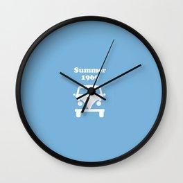 Summer 1969 -  lt. blue Wall Clock