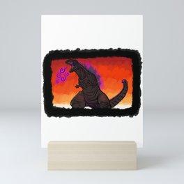 Shin Godzilla - background Mini Art Print