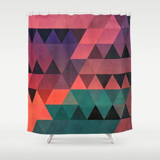 tryy cyty Shower Curtain