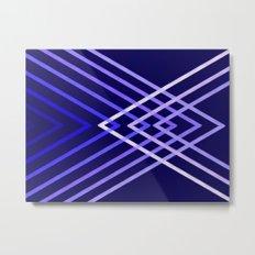 Energy in Blue Metal Print
