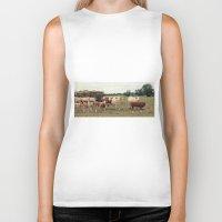 cows Biker Tanks featuring Cows by Falko Follert Art-FF77