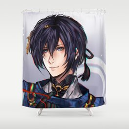Mikazuki Munechika (Jiji) Shower Curtain