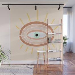 Retro evil eye Wall Mural