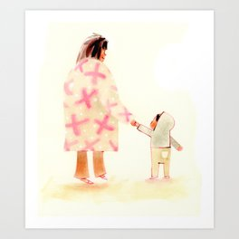 Cozy Sweater Walk Art Print