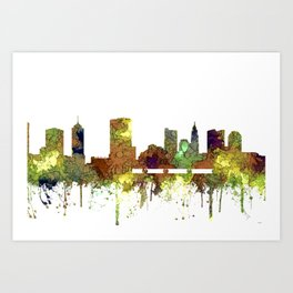 Columbus, Ohio Skyline SG - Safari Buff Art Print