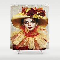 leah flores Shower Curtains featuring Flores by Wildchilds Asylum
