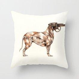 Bullpup Throw Pillow