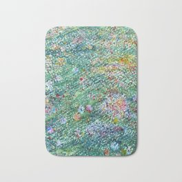 colorful flower filed Bath Mat