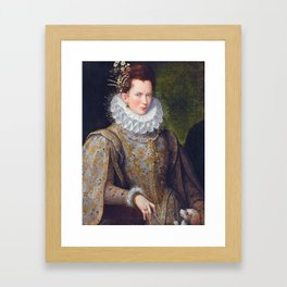 Portrait of Court Lady with Dog by Lavinia Fontana Framed Art Print
