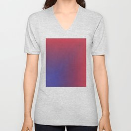 Abstract Rectangle Games - Gradient Pattern between Dark Blue and Moderate Red Unisex V-Neck
