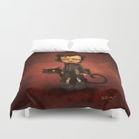 poe Duvet Covers featuring Little Poe by Poe Collection (by David G. Forés)