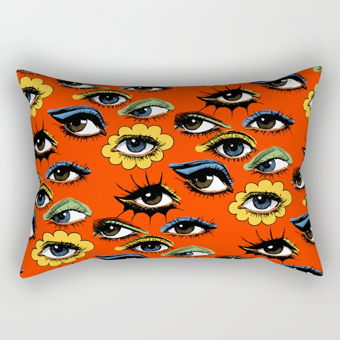 60s Eye Pattern Rectangular Pillow