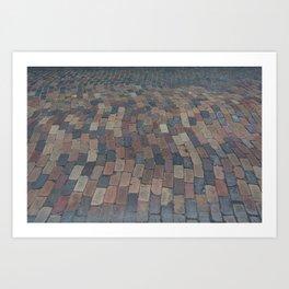 down the brick road Art Print
