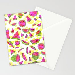 Watermelon watercolor Stationery Cards