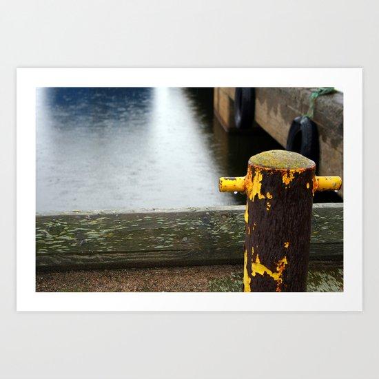 Rainy Dock Art Print
