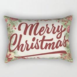 Vintage Christmas 28 Rectangular Pillow