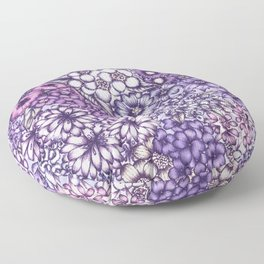 Faded Blossoms Floor Pillow