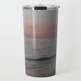 Sunset Beach Waves Travel Mug