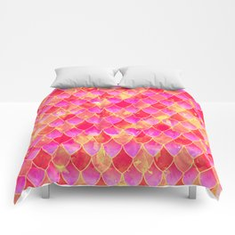 Squama Fish Pattern Flowe-of-Life Comforters