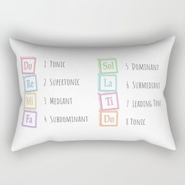 Tones of the Scale Music Theory Baby Blocks Rectangular Pillow
