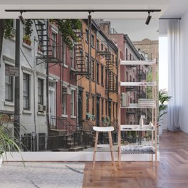 Picturesque street view in Greenwich Village, New York Wall Mural