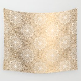 Gold Mandala 18 Wall Tapestry
