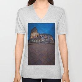 Colosseum at night Unisex V-Neck