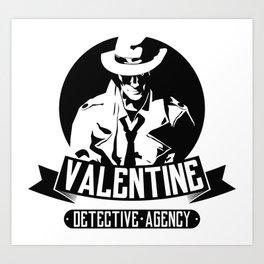 Valentine Detective Agency Art Print