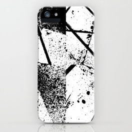 black abstract paint iPhone Case