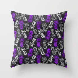 Purple Ananá Pinapple Punch Throw Pillow